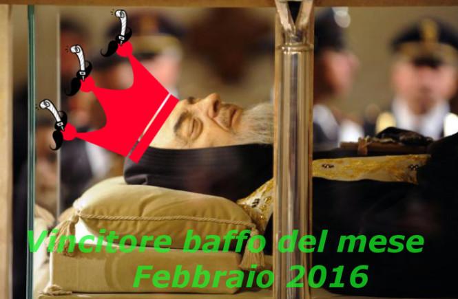 Padre Pio baffo del mese febbraio 2016