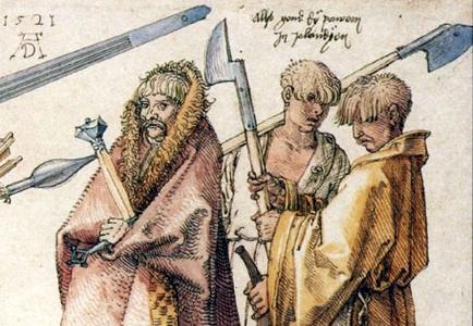 kerns irlandesi Albert Durer 1521