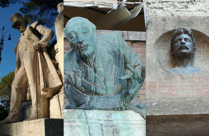 statue poeti baffuti roma