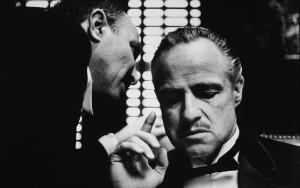 """Marlo Brando il più celebre boss mafioso del cinema ne """"Il Padrino parte Iª"""""""