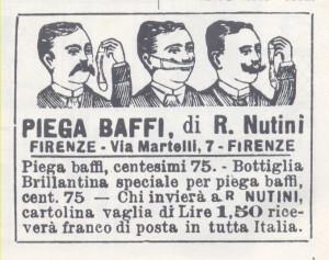 Pubblicità apparsa sull'Avanti il 25 gennaio del 1898
