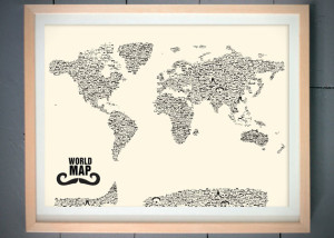 Moustache-World-Map