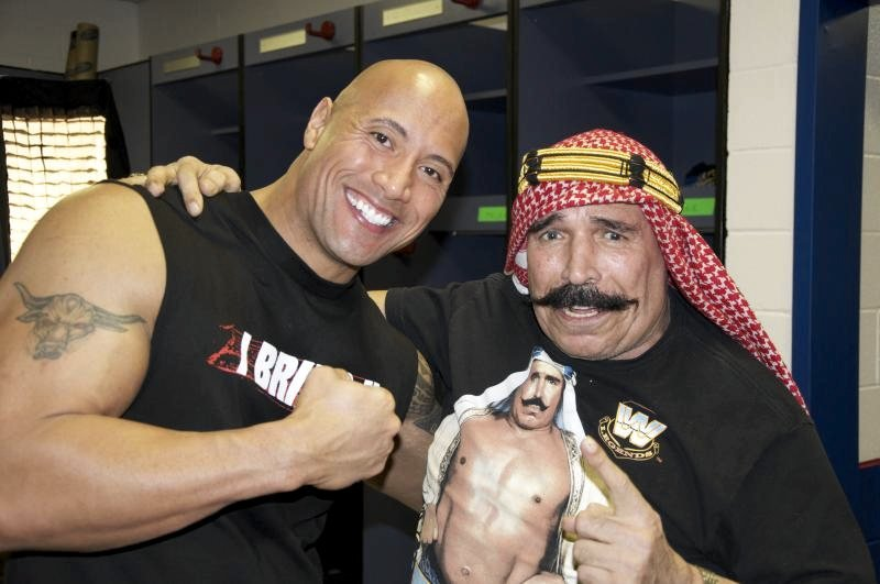 Iron Sheik e The rock